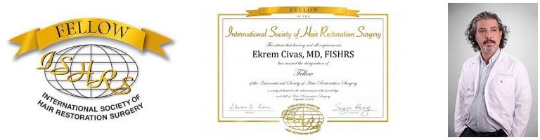 dr ekrem civas fellow of ISHRS